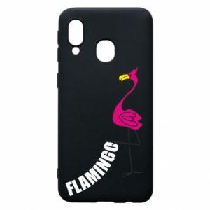 Etui na Samsung A40 Napis: Flamingo