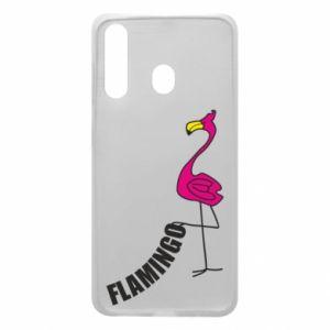 Etui na Samsung A60 Napis: Flamingo