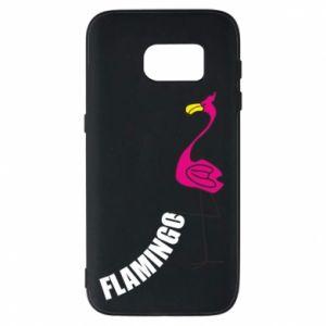 Etui na Samsung S7 Napis: Flamingo