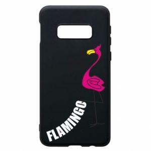 Etui na Samsung S10e Napis: Flamingo