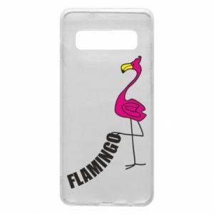 Etui na Samsung S10 Napis: Flamingo
