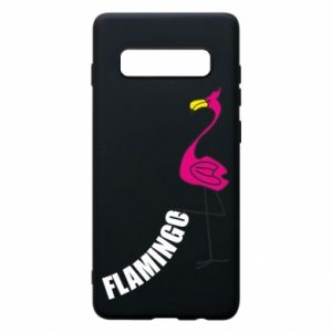 Etui na Samsung S10+ Napis: Flamingo