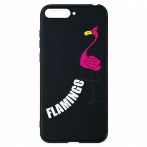Etui na Huawei Y6 2018 Napis: Flamingo