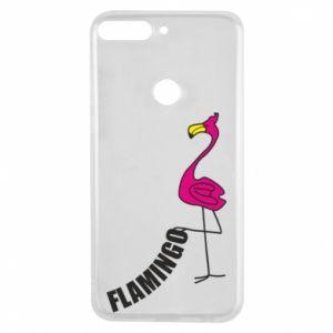 Etui na Huawei Y7 Prime 2018 Napis: Flamingo