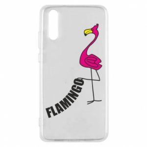 Etui na Huawei P20 Napis: Flamingo