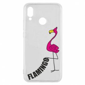 Etui na Huawei P20 Lite Napis: Flamingo