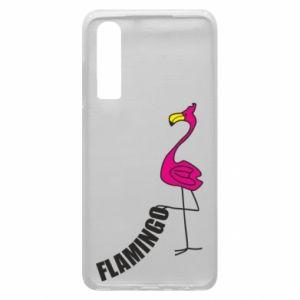 Etui na Huawei P30 Napis: Flamingo