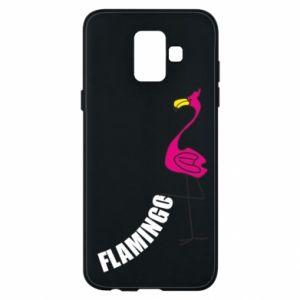 Etui na Samsung A6 2018 Napis: Flamingo