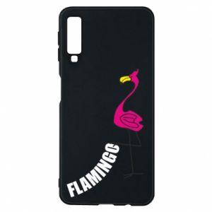 Etui na Samsung A7 2018 Napis: Flamingo