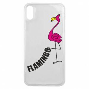 Etui na iPhone Xs Max Napis: Flamingo