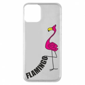 Etui na iPhone 11 Napis: Flamingo