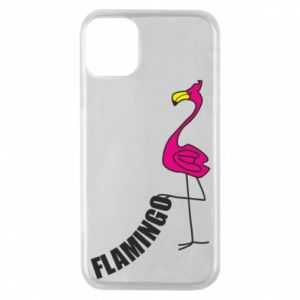 Etui na iPhone 11 Pro Napis: Flamingo