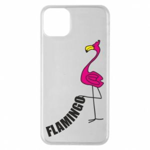 Etui na iPhone 11 Pro Max Napis: Flamingo