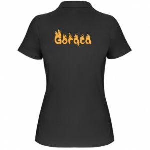 Koszulka polo damska Napis: Gorąca