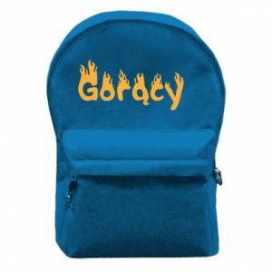 Plecak z przednią kieszenią Napis - Gorący