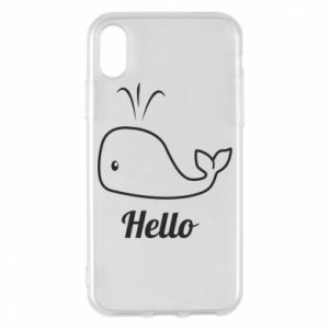 "Etui na iPhone X/Xs Napis: ""Hello"""