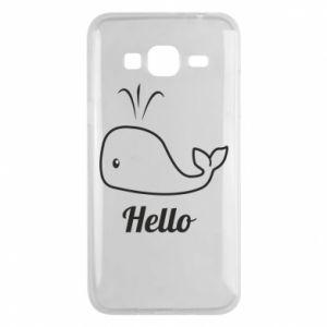 """Etui na Samsung J3 2016 Napis: """"Hello"""""""