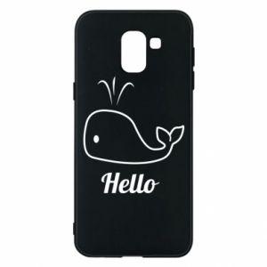 """Etui na Samsung J6 Napis: """"Hello"""""""
