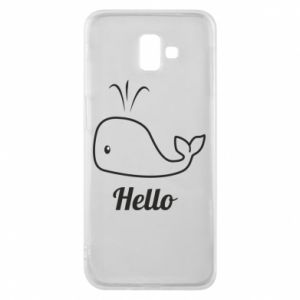 "Etui na Samsung J6 Plus 2018 Napis: ""Hello"""