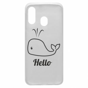 "Etui na Samsung A40 Napis: ""Hello"""