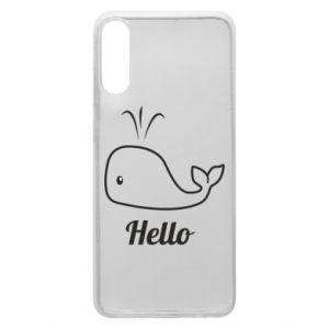 "Etui na Samsung A70 Napis: ""Hello"""