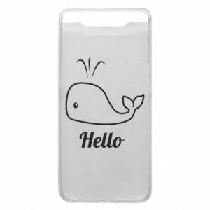 "Etui na Samsung A80 Napis: ""Hello"""