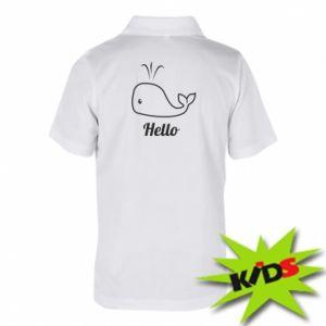 """Dziecięca koszulka polo Napis: """"Hello"""""""
