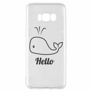 "Etui na Samsung S8 Napis: ""Hello"""