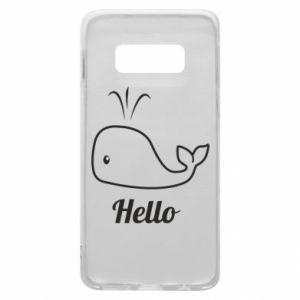 """Etui na Samsung S10e Napis: """"Hello"""""""