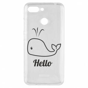"""Etui na Xiaomi Redmi 6 Napis: """"Hello"""""""
