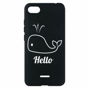 """Etui na Xiaomi Redmi 6A Napis: """"Hello"""""""