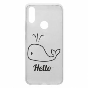 """Etui na Xiaomi Redmi 7 Napis: """"Hello"""""""