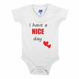 Body dla dzieci Napis: I have a nice day