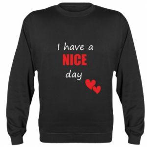 Bluza (raglan) Napis: I have a nice day
