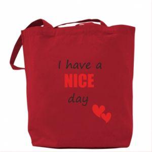 Torba Napis: I have a nice day
