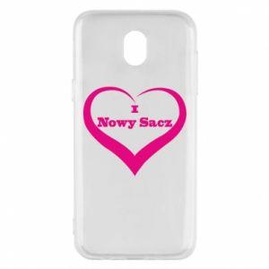 Etui na Samsung J5 2017 Napis - I love Nowy Sacz