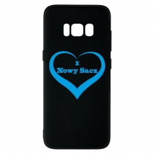 Etui na Samsung S8 Napis - I love Nowy Sacz