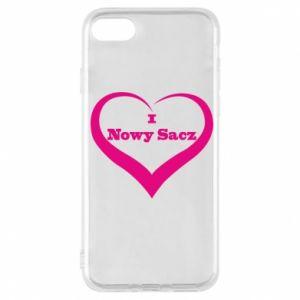 Etui na iPhone 7 Napis - I love Nowy Sacz