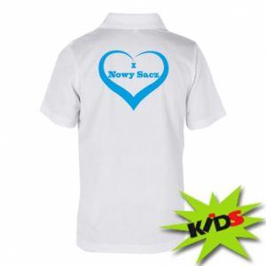 Dziecięca koszulka polo Napis - I love Nowy Sacz