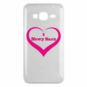 Etui na Samsung J3 2016 Napis - I love Nowy Sacz