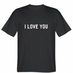 Koszulka Napis: I love you