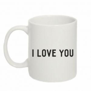 Kubek 330ml Napis: I love you