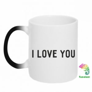 Kubek-kameleon Napis: I love you