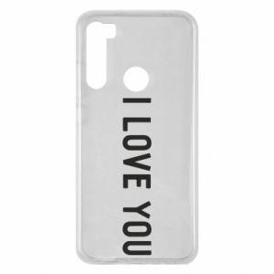Etui na Xiaomi Redmi Note 8 Napis: I love you