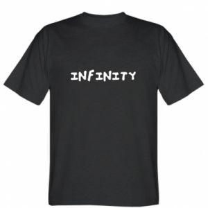 Koszulka męska Napis: Infinity