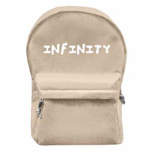 Plecak z przednią kieszenią Napis: Infinity