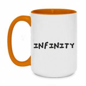 Kubek dwukolorowy 450ml Napis: Infinity