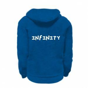 Bluza na zamek dziecięca Napis: Infinity