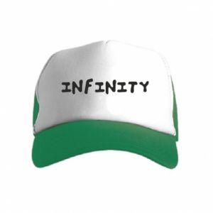 Czapka trucker dziecięca Napis: Infinity
