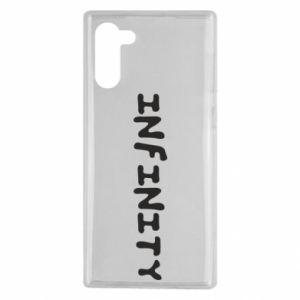 Etui na Samsung Note 10 Napis: Infinity